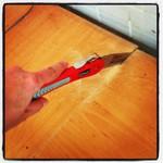 08.05.2013: Bin noch am Sägen. #Küche #Arbeitsplatte #EG13 Mach mich aber gleich auf zur #rp13