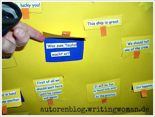 Die Übersetzung unbekannter Vokabeln wurde hinter einre Klappe versteckt. Foto: Petra A. Bauer 2008