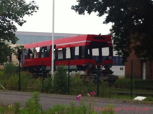 Bahn-Karosserie auf dem Bombardier-Gelände in Hennigsdorf. 28. August 2012