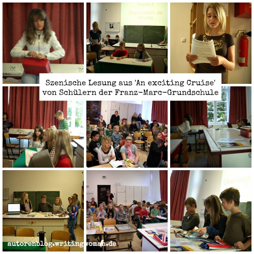 Schüler der Franz-Marc-Grundschule lesen mir mein eigenes Buch vor. Fotos: Petra A. Bauer 2008.