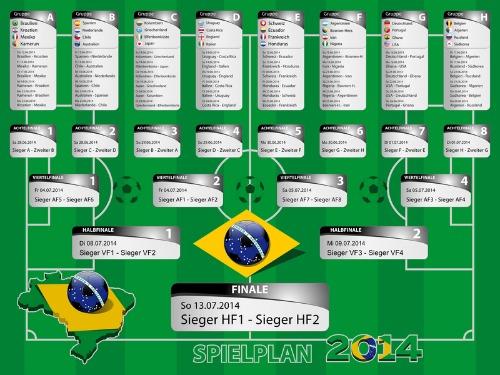 WM-Spielplan. Grafik: ©_wladi_-_Fotolia