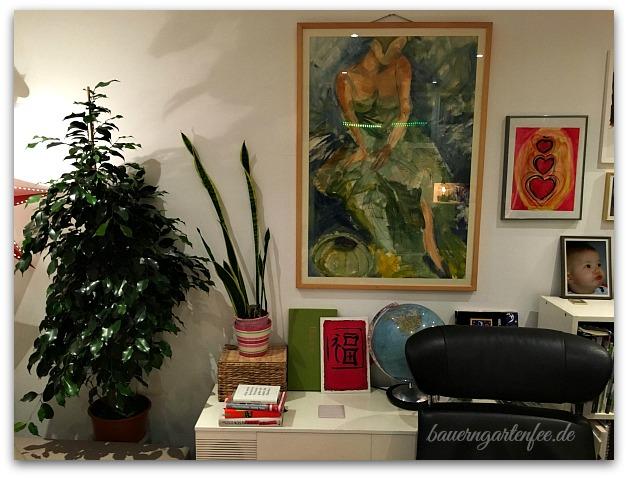 Der neue Ficus im Wohnzimmer. Foto: Petra A. Bauer 2016