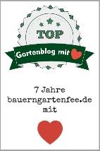 Das Gartenblog der Autorin Petra A. Bauer wurde erneut ausgezeichnet. Diesmal als Top Gartenblog mit Herz.