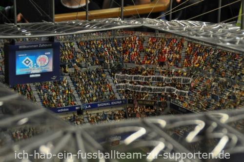 Gästekurve der Imtech Arena im Miniatur Wunderland