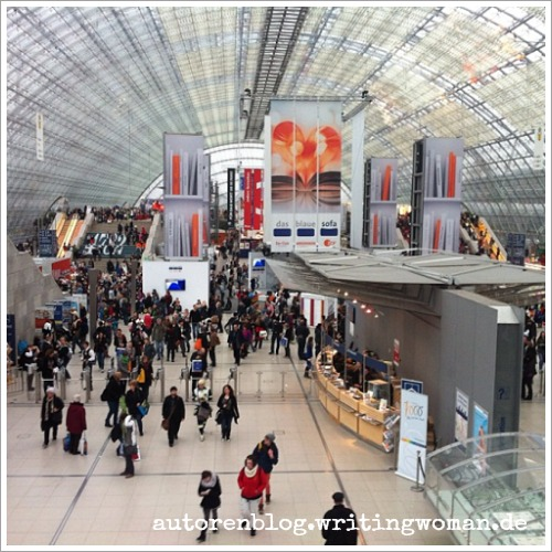 Glashalle bei der Leipziger Buchmesse 2015. Foto: Petra A Bauer