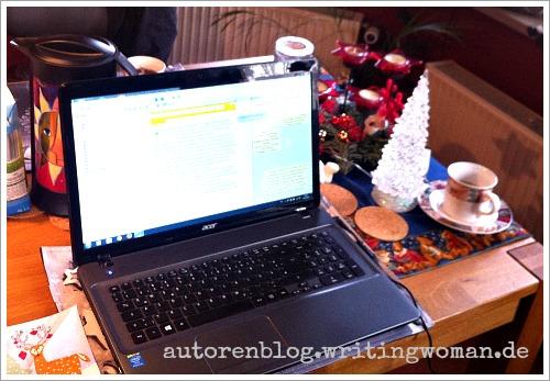 Mein Arbeitsplatz bei Babette, Foto: Petra A. Bauer