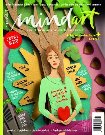 Erstausgabe des mindart-Magazins mit Beiträgen der Berliner Autorin Petra A. Bauer.