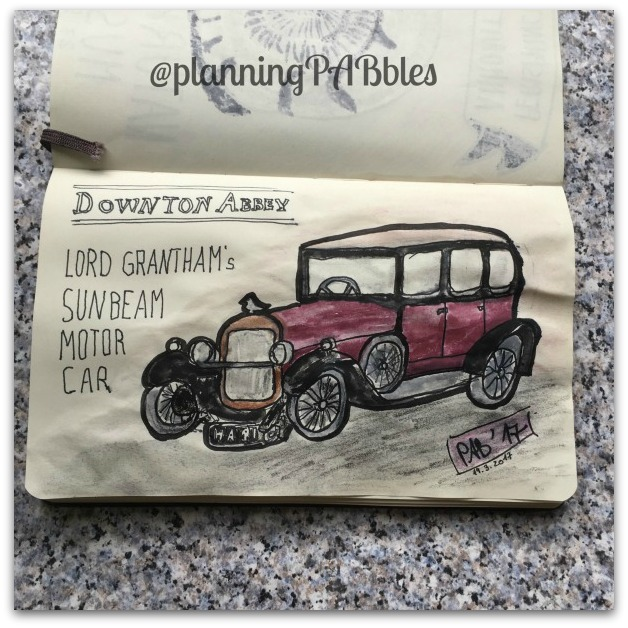 Lord Grantham's Sunbeam Motor Car aus Downton Abbey