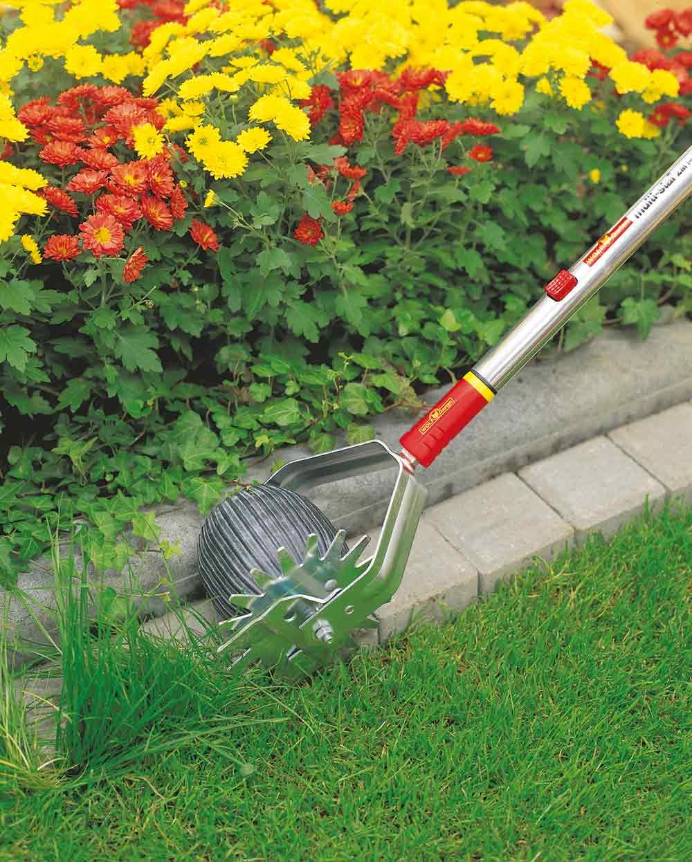 Rasenkantenschneider mal anders. Foto: Wolf Garten.