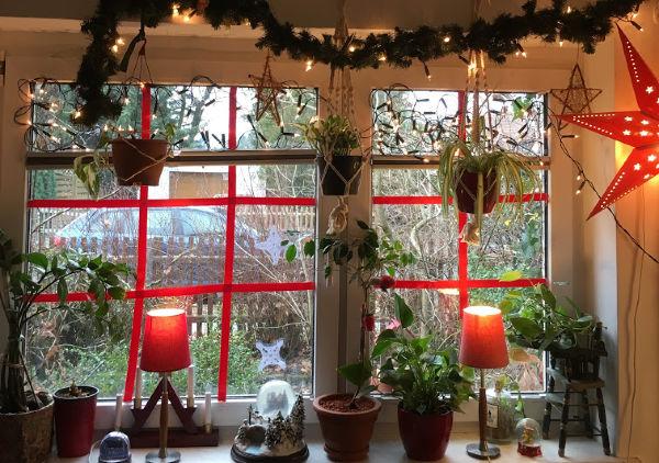 Unser Wohnzimmerfenster Dezember 2018