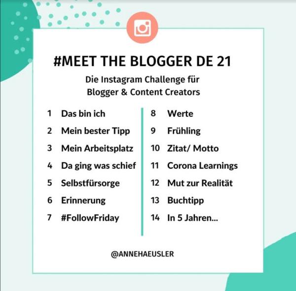 MeetTheBloggerDE21 Schedule