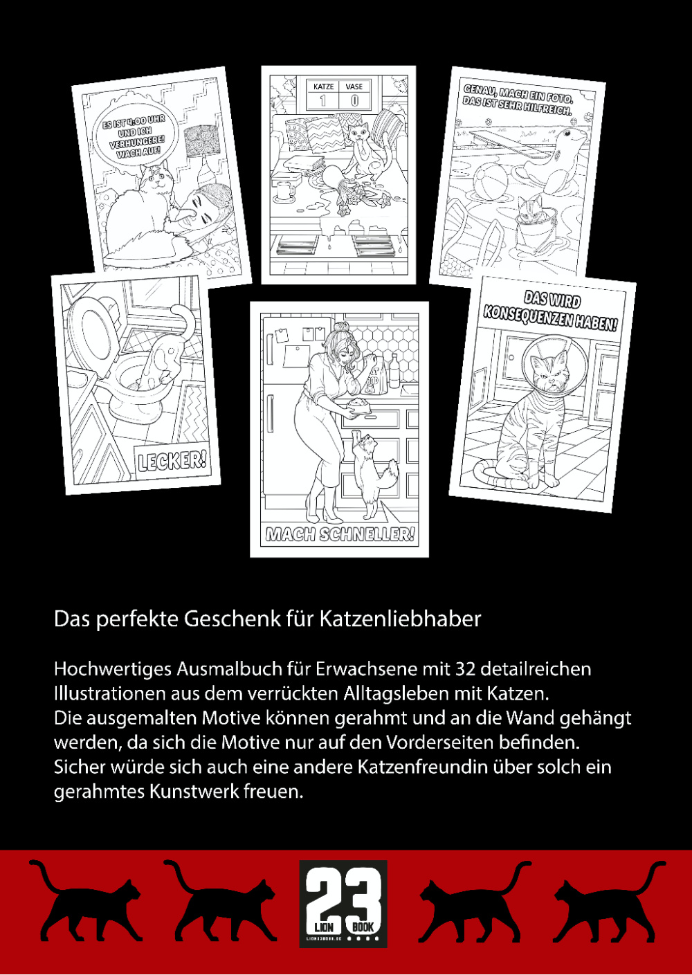 Was Katzen denken. Malbuch für Erwachsene. Von Petra A. Bauer, 19. August 2020.