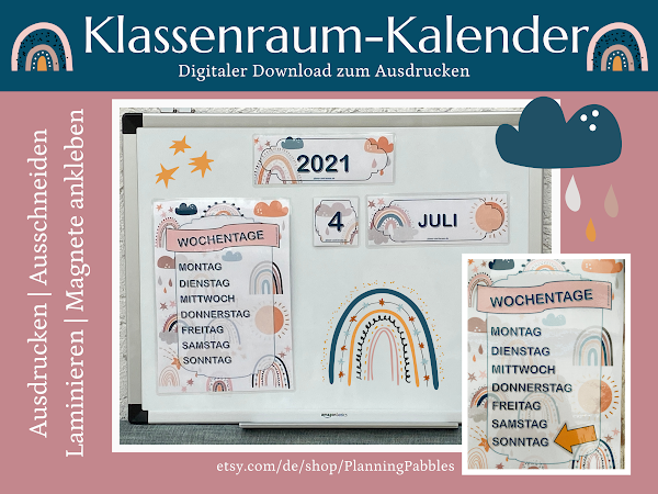 REGENBOGEN Klassenraum-Kalender von Petra A. Bauer