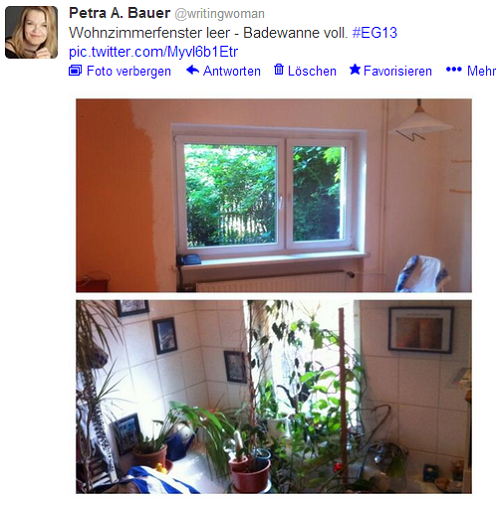 Wohnzimmerfenster leer - Badewanne voll #EG13