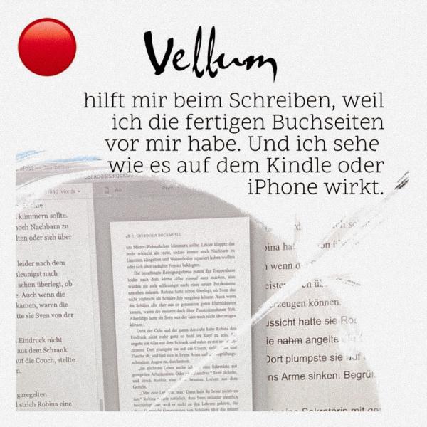 Vellum - die Buchsoftware als Schreibmotivation