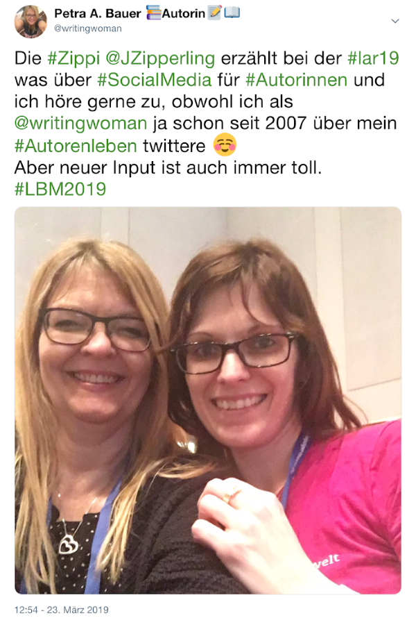 Zippi und Petra A. Bauer 2019