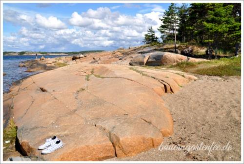 Granitfelsen auf den Schären an der schwedischen Westküste