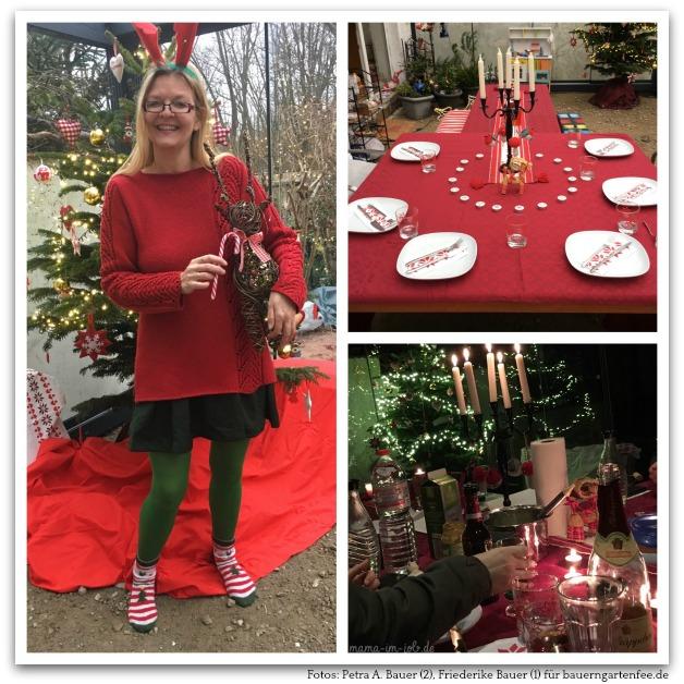 Familienweihnacht im neuen Wintergarten. Fotos: Petra und Friederike Bauer.