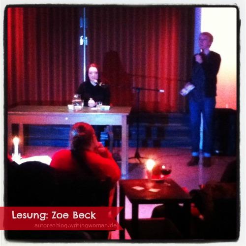 Lesung Zoe Beck