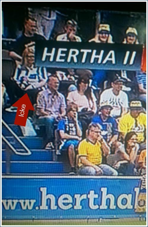Petra bei Hertha II vs Lok Leipzig