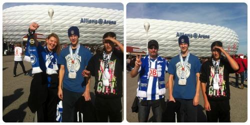 Vor der Allianz Arena