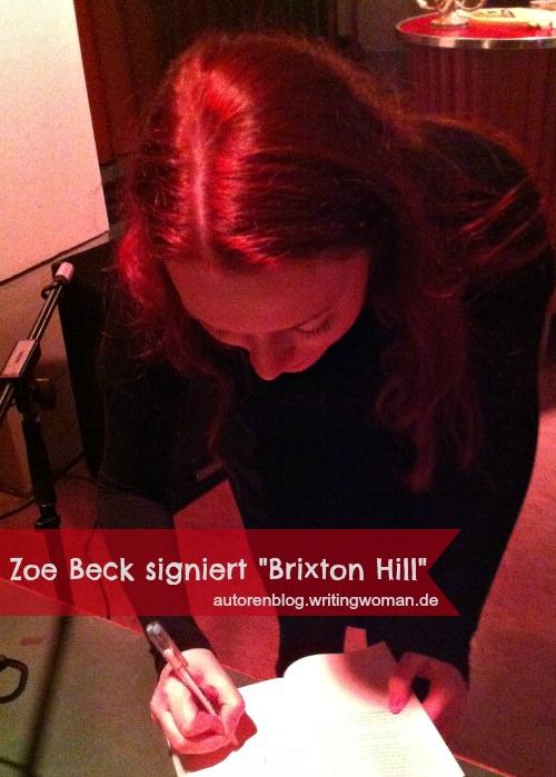 Zoe Beck signiert Brixton Hill